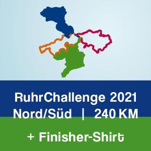 Produktbild RuhrChallenge Nord/Süd 2021 + Finisher-Shirt