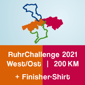Produktbild RuhrChallenge West/Ost 2021 + Finisher-Shirt